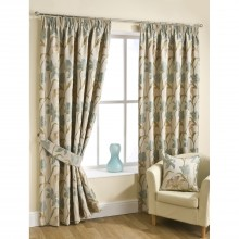 Belfield Lily Ready Made Curtain 168x137cm, Aqua