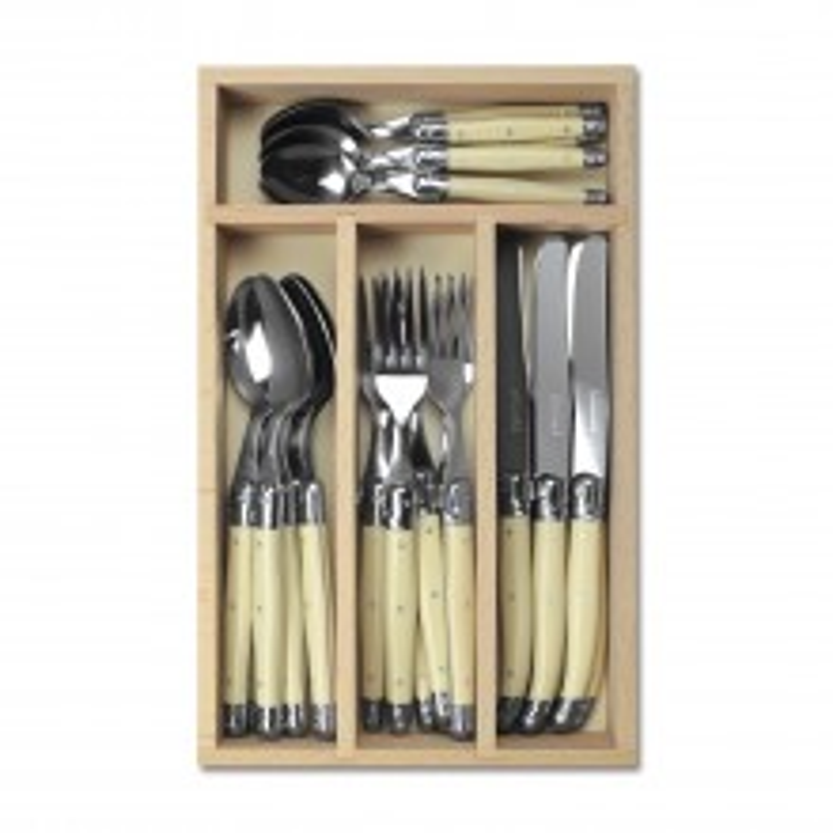 Laguiole Cutlery Set 24 Piece, Ivory