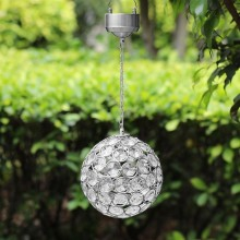 The Solar Centre Aria Hanging Crystal Ball, Silver