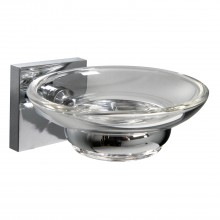 Miller Of Sweden Cube Soap Dish, Chrome