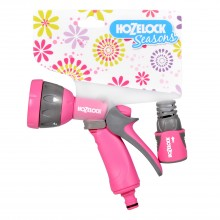 Hozelock Multispray Gun & Fitting Set, Pink