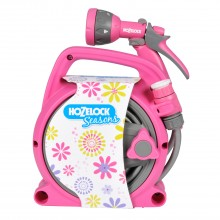 Hozelock Pico Reel & Spray Gun Set, Pink