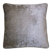 Gordon John Velvet Feather Cushion, Grey