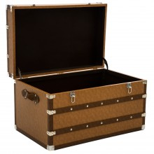 Casa Leather Trunk Medium, Brown