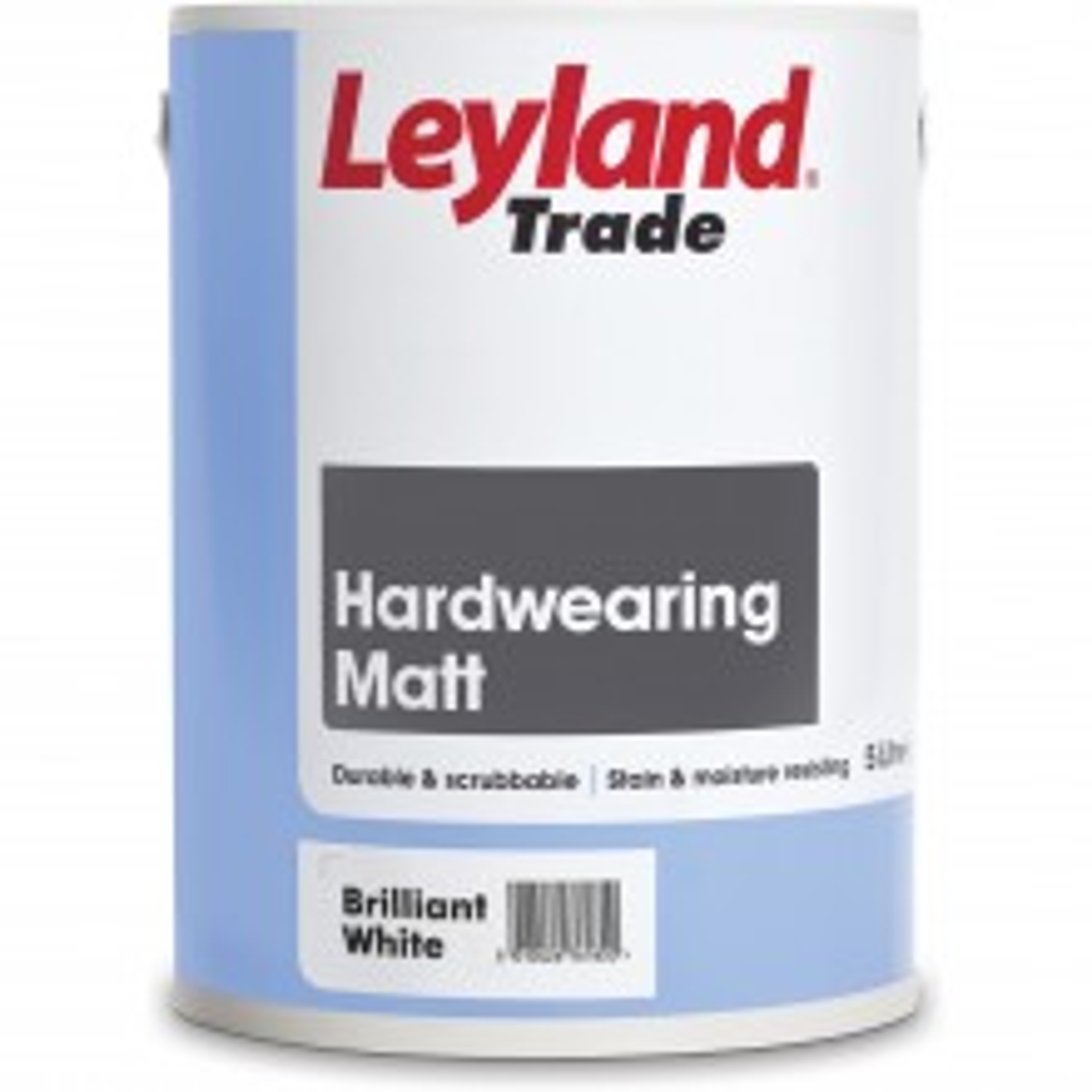 Leyland 5L Hard Wearing Matt Emulsion Paint, White