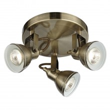 3 Spot Light, Antique Brass