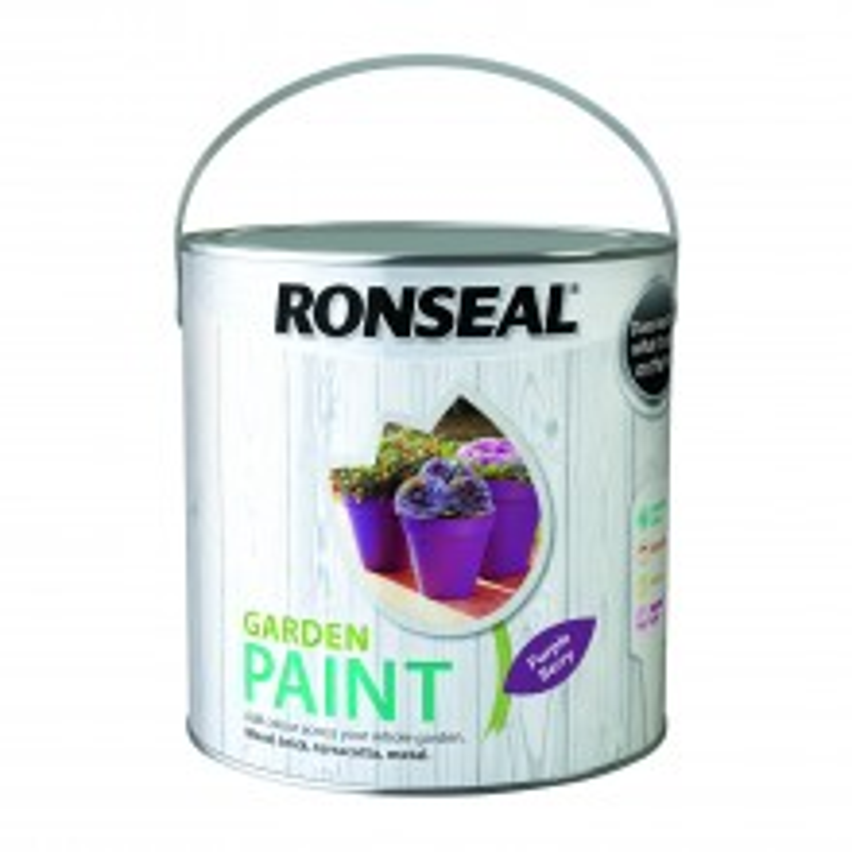 Ronseal 2.5l Garden Paint, Purple Berry