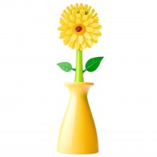 Addis Flower Power Geranium Dish Brush & Vase