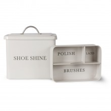 Garden Trading Shoeshine Box In Chalk