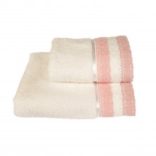 Allure Lauren Lace Bath Towel, Pink