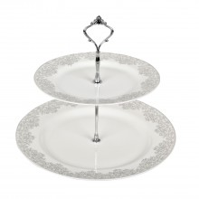 Monsoon by Denby Filigree Silver Cake Stand