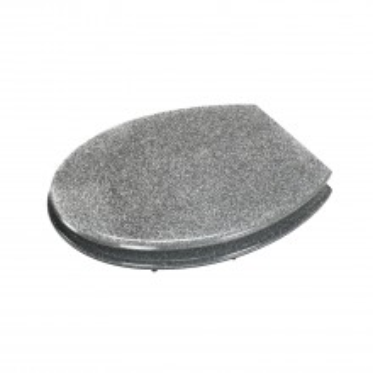 Croydex Silver Glitter Toilet Seat, Silver