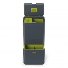 Joseph Joseph Intelligent Waste Totem Recycling Bin, 60l, Graphite