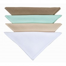 Le Chateau Plain Dyed Napkin Set Pack of 4, White