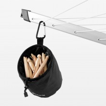 Brabantia Clothes Peg Bag Premium, Black