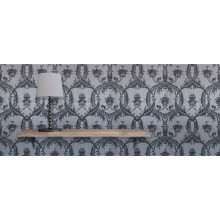 Fine Decor Milano Damask Wallpaper, Silver