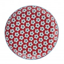 Christopher Vine Cotton Bud Tapas Plate, Red