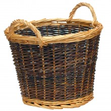 Manor Duo Tone Small Log Basket, Willow