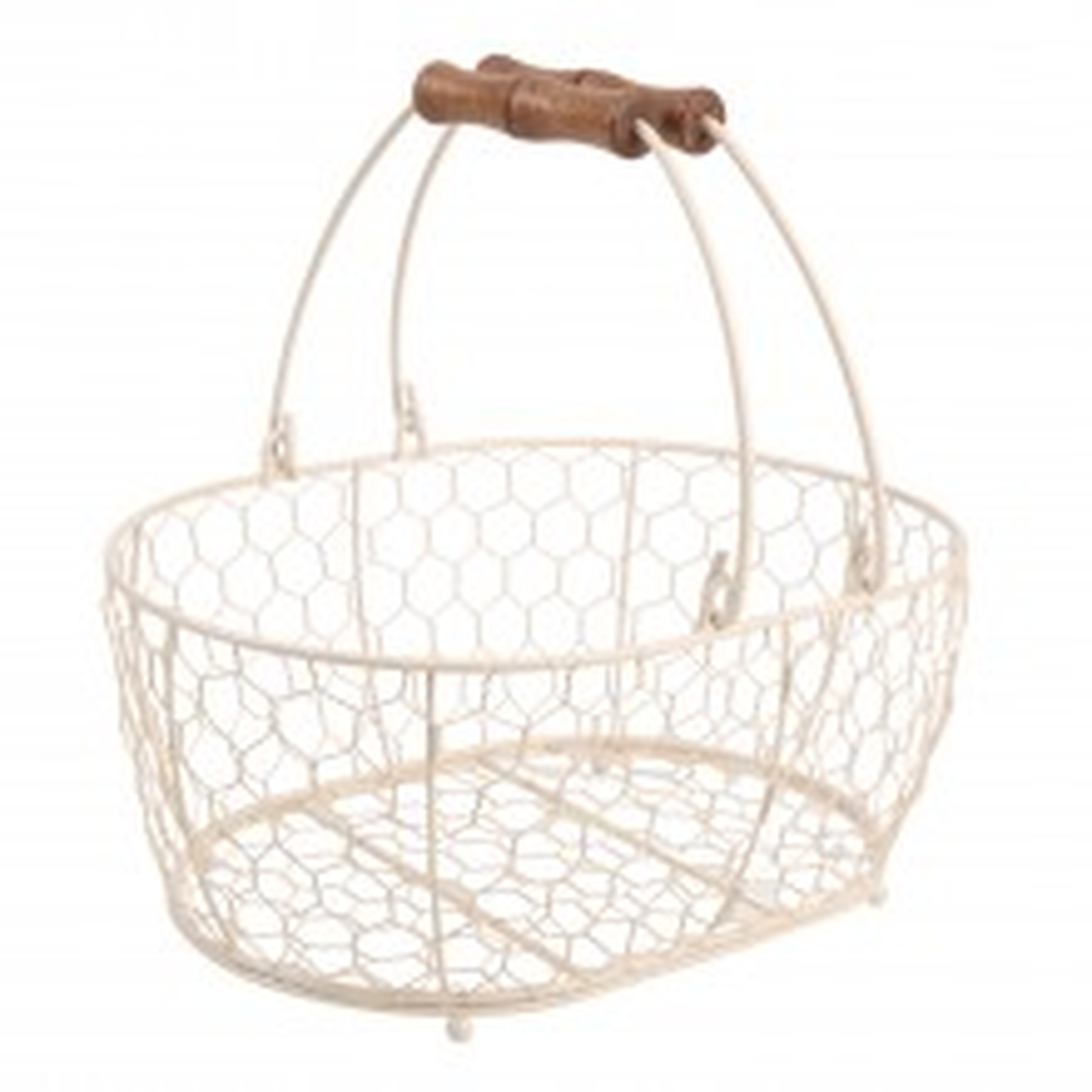 Provence Medium Oval Basket, Cream