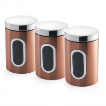 Addis Set Of 3 Canisters, Copper