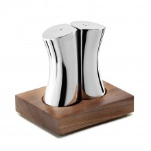 Robert Welch Drift Salt Pepper Shakers Walnut, Stainless Steel