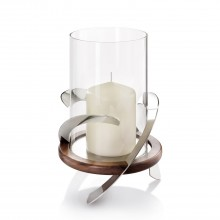 Helix Hurricane Lamp, Stainless Steel