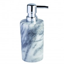 Showerdrape Athena Marble Soap Dispenser, White