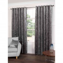Gordon John Plush Curtains, 229x137cm, Steel