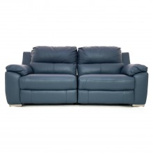 Casa Fiji 2.5 Seater Manual Recliner Sofa, Ocean Blue