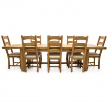 Casa Fairford Large Extending Table & 8 Chairs