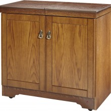 Hostess Real Wood Veneer Antique Oak