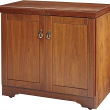 Hostess Trolly Real Wood Veneer Walnut