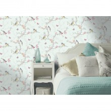 Holden Decor Phoebe Wallpaper, Soft Teal