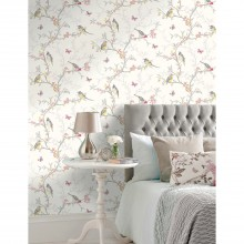 Holden Decor Phoebe Wallpaper, White