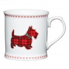 Kitchencraft Scottie Dog Tankard Mug, Cream