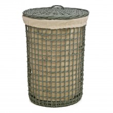 Casa Circular Willow Basket, Green