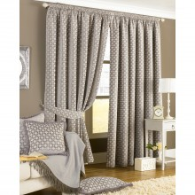 Belmont Ready Made Curtains, Silver