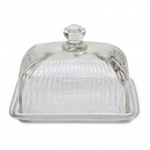 Garden Trading Cornbury Glass Butter Dish, Glass