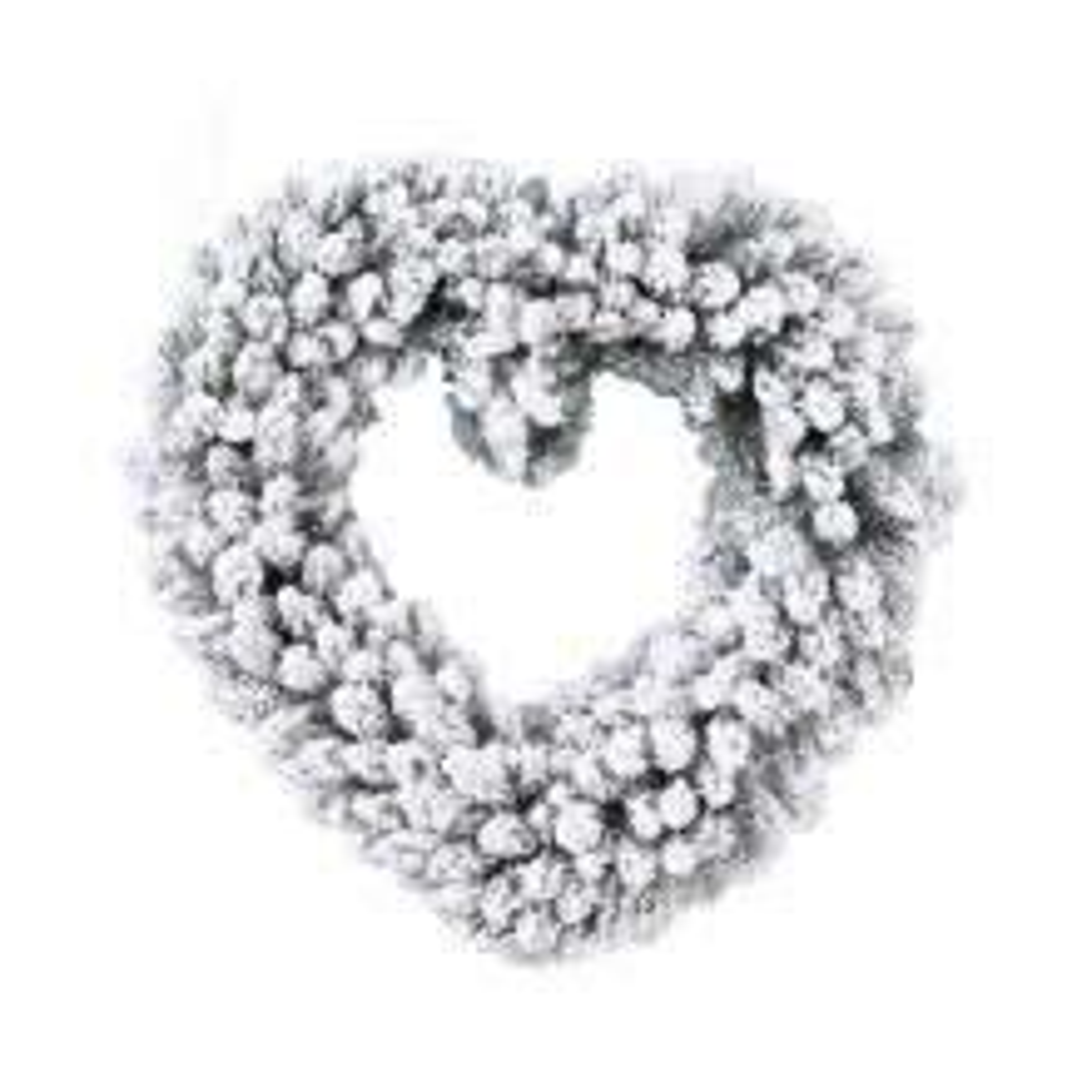 Kaemingk Snowy Heart Wreath, White