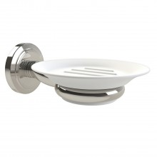 Miller Oslo Soap Dish And Holder, Polished Nickel