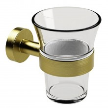 Miller From Sweden Tumbler And Holder, Lacquered Brass