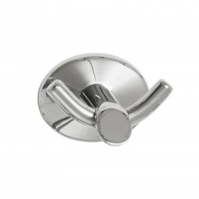 Robert Welch Oblique Double Robe Hook, Silver