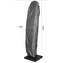 AeroCover Free Arm Parasol Cover 250 x 85cm, Anthracite