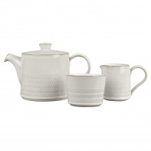 Denby Natural Canvas 3 Piece Tea Set
