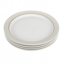 Denby Natural Canvas 4 Piece Dinner Plate Set