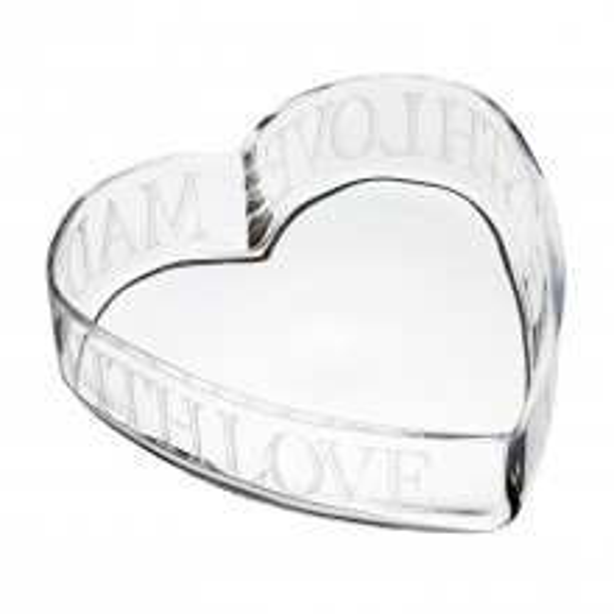 Kitchencraft Artesa Glass Heart Bowl