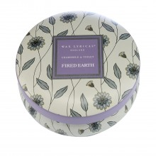 Fired Earth Candle Tin Chamomile, Purple