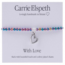 Carrie Elspeth With Love Bracelet, White