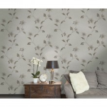 Holden Decor Opus Floriana Wallpaper, Grey