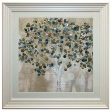 Complete Colour Teal Bubble Tree Liquid Art